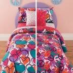 Girls Peace Sign Bedding by Latitude Peace Paint Reversible Bed In A Bag Bedding Set Walmart Com