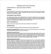 Legal Secretary Duties Resume Legal Assistant Job Description Legal Secretary Resume Best Legal
