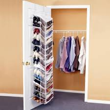 furniture simple small closet with single white door and frame