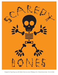 Skeleton Bones For Halloween by Skeleton Halloween Printable