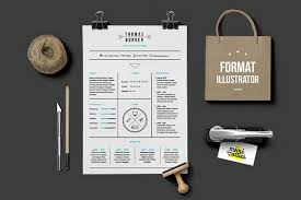 Illustrator Resume Templates Burger Resume Template Illustrator Resume Templates Creative