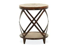 round distressed end table distressed end tables distressed round transitional accent rich