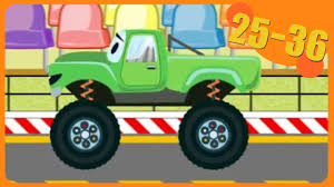 monster trucks clipart kids compilation cartoon the green monster truck with friends 30