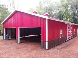 Barn Garage 40x60x12 Pole Barn Garage Www Nationalbarn Com Barns Pinterest