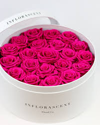 hot pink roses luxury white box hot pink roses that last a year