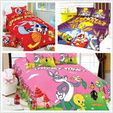 2018 amazing bright color looney tunes print bedding sets