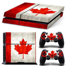 Flag Of Canada 2018 Ps4 Design Skin Flag Of Canada Decal Sticker For Playstation