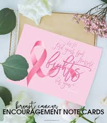 cancer cards breast cancer printable note cards free printable