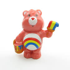 care bears miniature figurines brown eyed