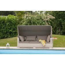 canapé résine tressée pas cher canapé de jardin bain de soleil seychelles résine tressée taupe 1