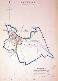 Canterbury England Map by Antique Maps Tooley Adams