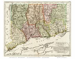 Map Of Connecticut Towns Old Maps Of Connecticut Reprints