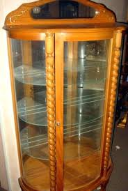 curved glass china cabinet glass china cabinet pulaski curved glass china cabinet smarton co