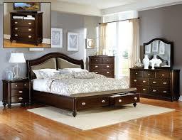 Storage Bed Sets King Homelegance Marston 4p Cherry Wood Cal King Sleigh Storage Bedroom Set