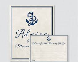 to be cards nautical baby shower advice cards advice for to be