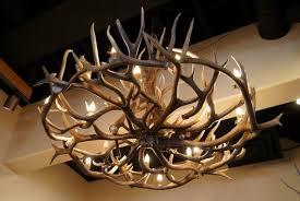 Antlers Lighting Chandelier Real Elk Antler Chandelier Roselawnlutheran