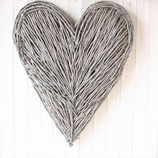 Heart Home Decor Extra Large Wicker Wall Heart Walls Interiors And Bedrooms