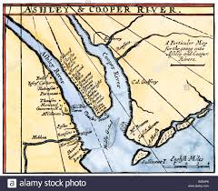 South Carolina rivers images Colonial map of the ashley and cooper rivers site of charleston jpg
