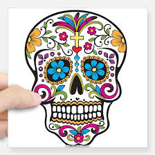 sugar skull bumper stickers cafepress
