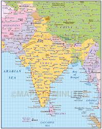 vector india country map 10m scale in illustrator and pdf format