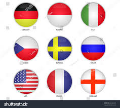 England Flag Round Round Button National Flag France England Stock Vector 662401696