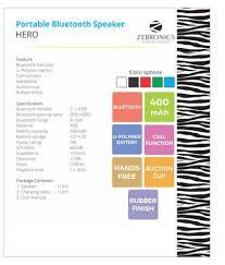zebronics hero bluetooth speaker blue buy zebronics hero
