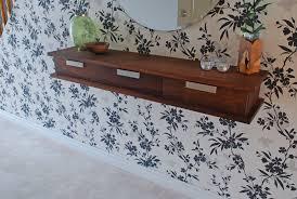 Wall Shelves With Drawers Custom Walnut Floating Wall Shelf By Clark Wood Creations