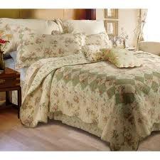 global trends bloomfield ivory quilt bedding set walmart