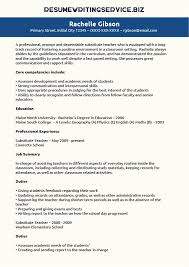 Long Term Substitute Resume Nursing Resume Samples With No Experience An Image Of Africa