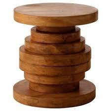 wood disk home carroll wood table wayfair