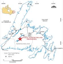 Map Of Newfoundland Canada by Newfoundland Canadian Zinc Corporation