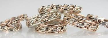 and rings about our rings for todd alans braided unique wedding rings