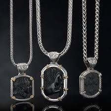 mens necklace pendant images Konstantino 3d black onyx cross silver mens necklace pendant jpg