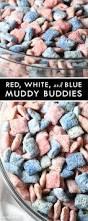 red white and blue muddy buddies