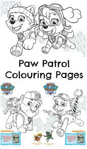 paw patrol pups pirate treasure colouring printables