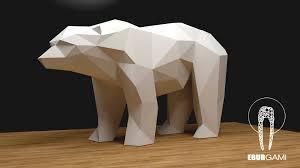 bear xxl papercraft 3d papercraft build your own low poly