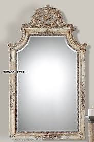 aged cream scroll french country tuscan style wall mirror vanity
