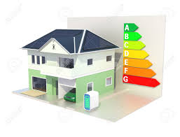 smart house with solar panel system energy efficient chart stock