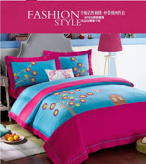 colorful designer blue pink colorful designer brand bedding bedroom bed sheets sets