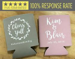wedding personalized koozies wedding koozies etsy