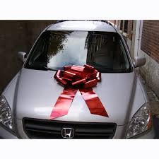 car ribbon car bow jumbo metallic vinyl ribbon cappel s