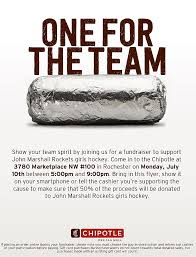 marshall gift card eat chipotle burritos to support rochester s marshall high