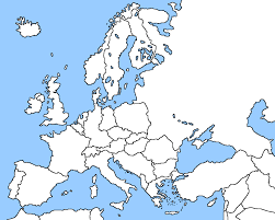 Map Of Cold War Europe by Blank Map Of Europe Cold War Calendar