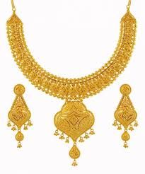 big necklace sets images 22k yellow gold necklace set ajns59498 22k yellow gold jpg