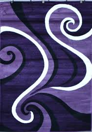 Red White And Black Rug 0327 Purple Black White Modern Abstract Swirls Area Rug Carpet