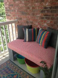 Outdoors Shower Curtain by Cinder Block Bench Made From Crib Mattress Use A Shower Curtain