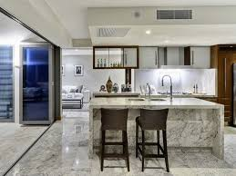 kitchen dining rooms designs ideas fully granite kitchen and dining room design with wooden cabinet