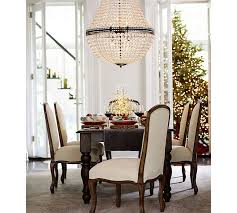Crystal Light Fixtures Dining Room - mia faceted crystal extra large chandelier pottery barn