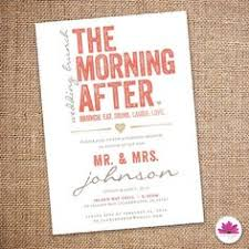 after wedding brunch invitation wording morning after wedding brunch invitation by beecatcherdesigns