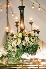 From A Chandelier Floral Arrangement Hanging From A Chandelier Photo By Pepper Nix